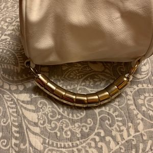 Bags - White Faux Leather Purse - Made in Spain